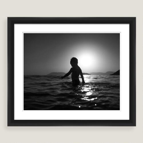 Playful Sea Framed Shadowbox Wall Art