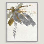 Abstract Brushstrokes Canvas Wall Art with Gold Leaf