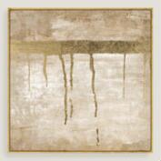 Dripping in Gold Canvas Wall Art with Gold Leaf
