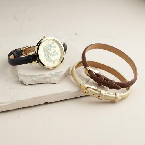 Elephant Watch with Interchangeable Straps, 4 Piece