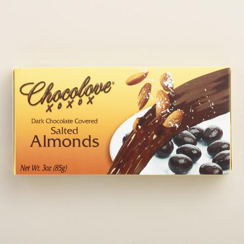 Chocolove Salted Almonds and Dark Chocolate Box
