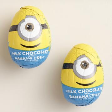 Minion Milk Chocolate Eggs Set of 6