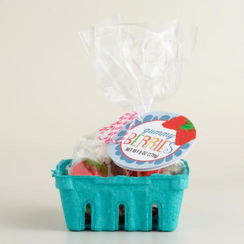 Fruit Gummy Candy in Half Pint Berry Basket