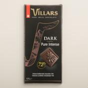Villars Pure Intense Dark Chocolate Bar