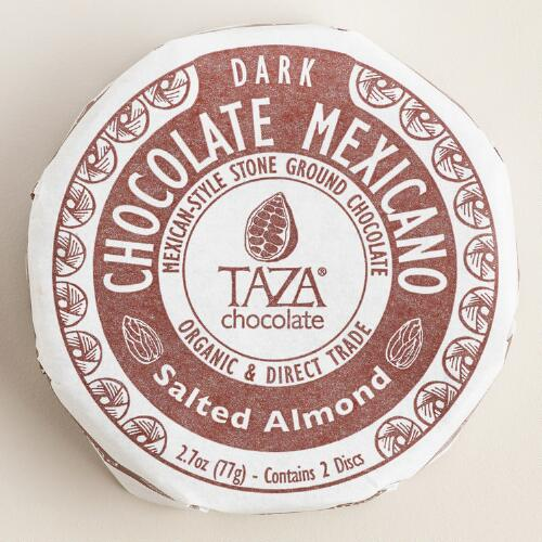 Taza Salted Almond Dark Chocolate