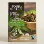 4 O'Clock Jasmine and Lotus Flower Green Tea 15 Count