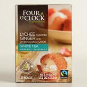 4 O'Clock Lychee Ginger White Tea 15 Count
