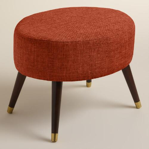 Kern Oval Upholstered Ottoman