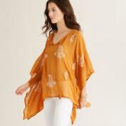 Mango Embroidered Mayra Kaftan Top