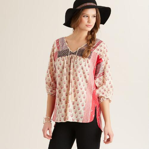 Ivory and Berry Dani Top