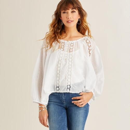 White Lace Willa Top