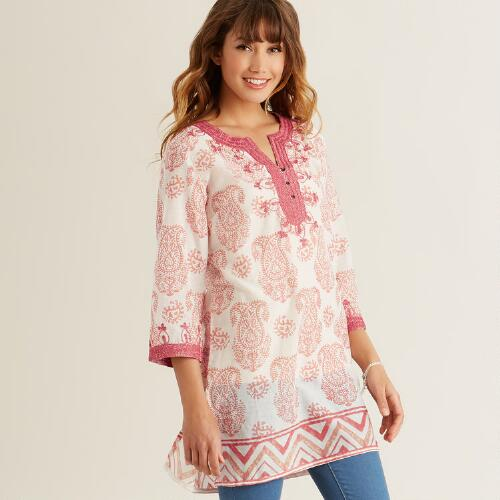 Blush Metallic Cate Tunic