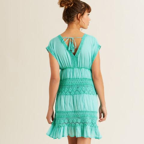 Turquoise Crochet Bea Dress World Market