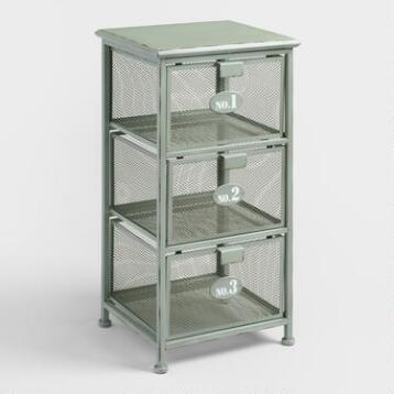 Metal 3 Drawer Julia Storage