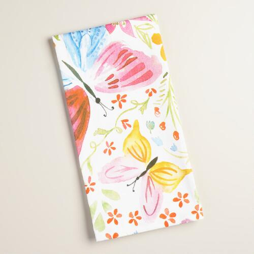 Watercolor Butterflies Kitchen Towel