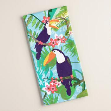 Tropical Toucans Kitchen Towel