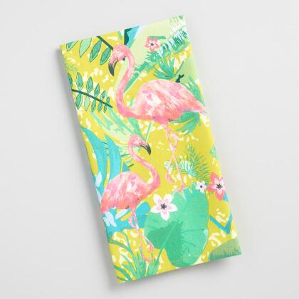 Tropical Flamingos Kitchen Towel