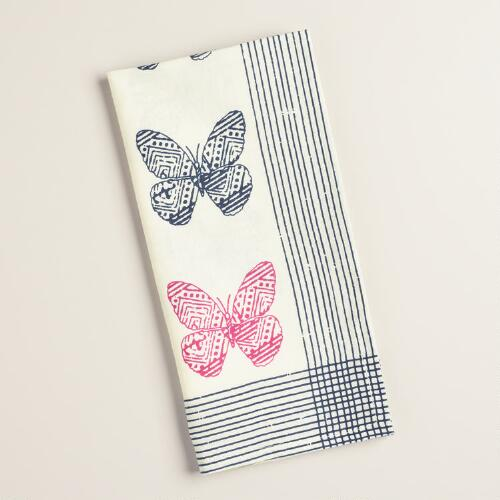 Tribal Butterfly Napkins Set of 4