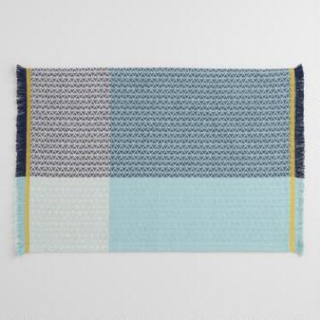 Blue Color Block Woven Placemats Set of 4