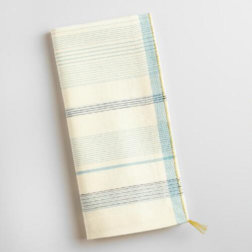 Blue and White Striped Napkins Set of 4