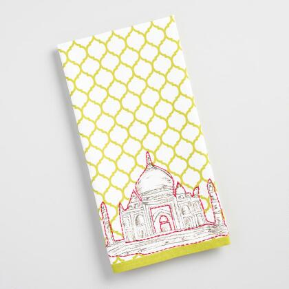 Embroidered Taj Mahal Kitchen Towel