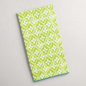 Aqua and Green Sheila Kitchen Towel