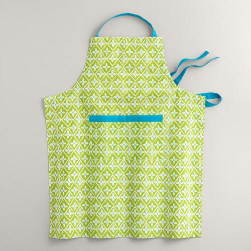 Aqua and Green Sheila Apron