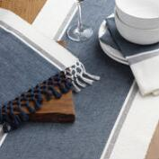 Seaside Stripe Woven Table Linen Collection