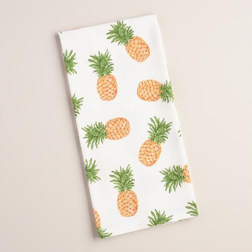 Scattered Pineapples Flour Sack Kitchen Towel