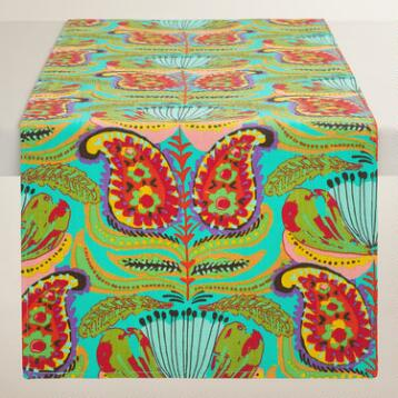 Green Santiago Table Runner