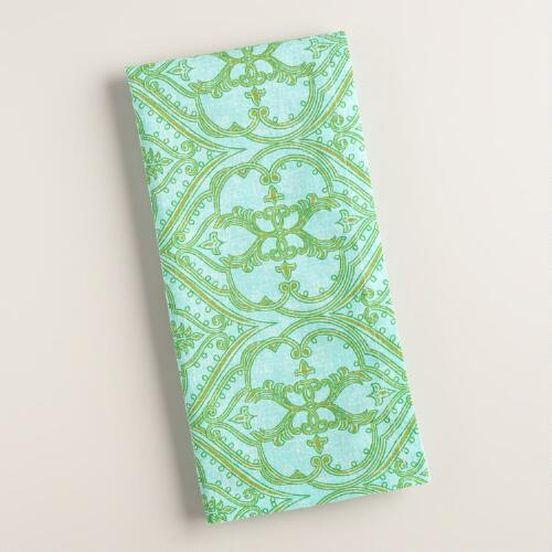 Blue and Green Pacifica Napkins 4 Pack