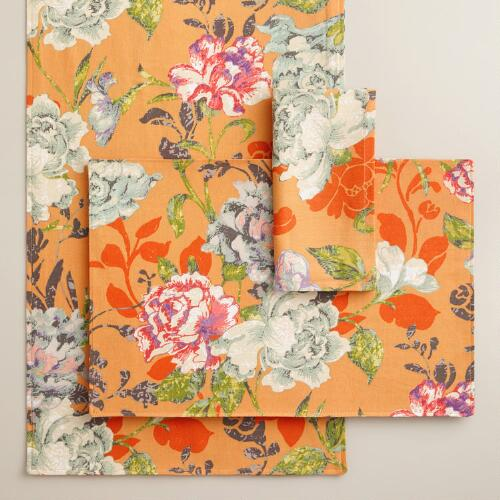 Regina Floral Table Linen Collection