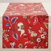 Red Elephant Table Runner