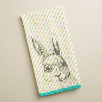 Bunny Face Kitchen Towel