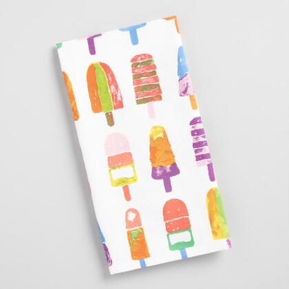 Popsicle Flour Sack Kitchen Towel