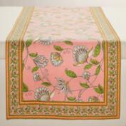 Pink Pip Floral Table Runner