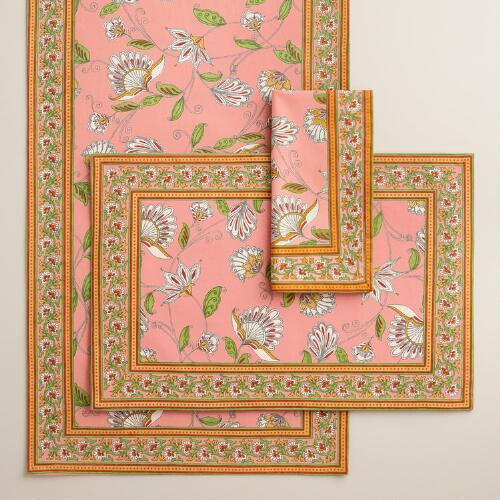 Pink Pip Floral Table Linen Collection