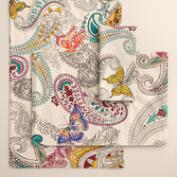 Chambray Papillon Paisley Table Linen Collection
