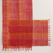 Orange and Fuchsia Abaca Table Linen Collection