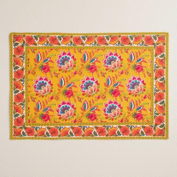 Floral Mexican Boho Placemats Set of 4