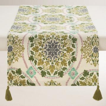Julianna Medallion Jute Table Runner