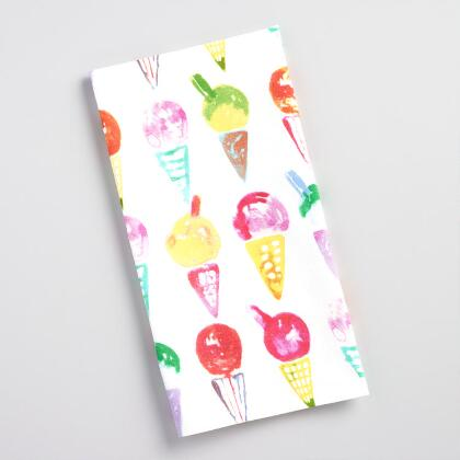 Ice Cream Flour Sack Kitchen Towel