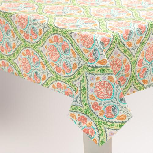 Green and Pink Giselle Tablecloth