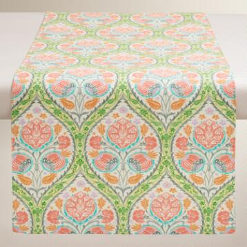 Green and Pink Giselle Table Runner
