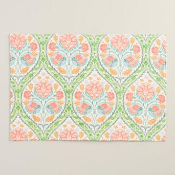 Green and Pink Giselle Placemats Set of 4