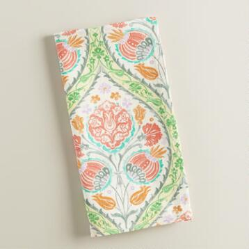 Green and Pink Giselle Napkins Set of 4