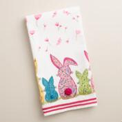 Embroidered Bunnies Kitchen Towel