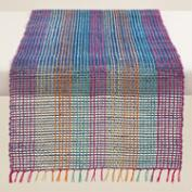 Blue and Fuchsia Abaca Table Runner