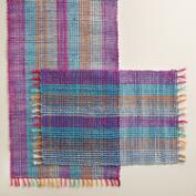 Blue and Fuchsia Abaca Table Linen Collection