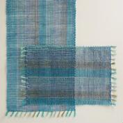 Blue and Aqua Abaca Table Linen Collection